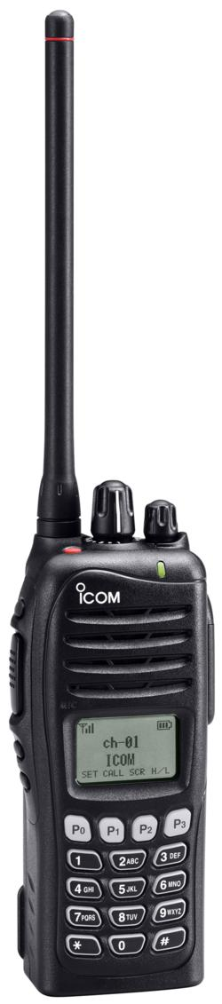 icom IC-F4162T VHF advanced handheld radio (with keypad)