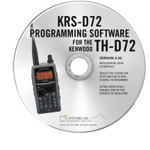 KRS-D72 Programming Software Only for the Kenwood TH-D72