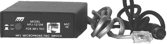 MFJ-1272MX TNC Switch/mic Interface wired for PK-232 8-pin Phone