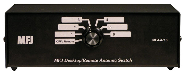 MFJ-4716 - 6-position Desk antenna switch 1.8-150MH