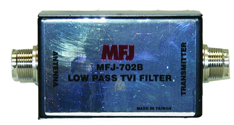 MFJ-702B - 200 Watt Low Pass TVI Filter