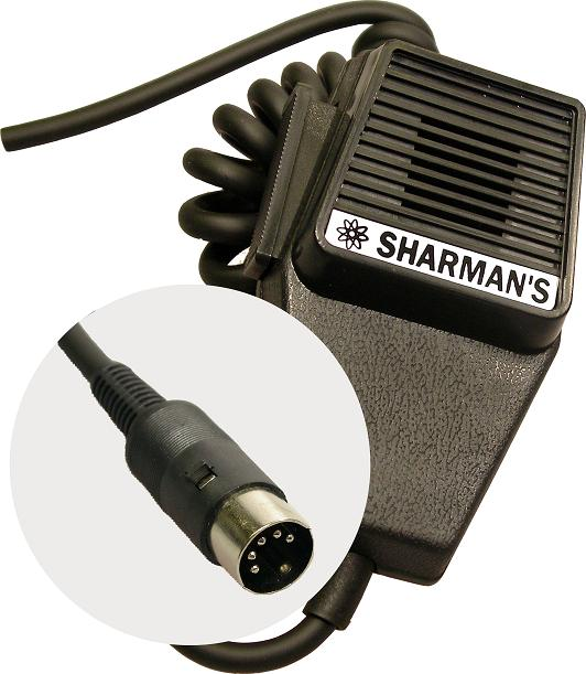 SHARMAN'S DM520P3 COFFIN MICROPHONE WITH 5PIN DIN PLUG (MIDLAND)