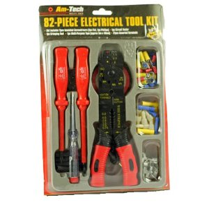 82 piece electrical tool kit comes with a variety of different i