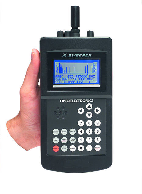 X-SWEEPER Optoelectronics FM Nearfield Receiver with Spectrum di