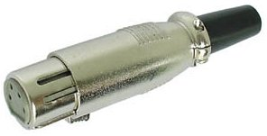 Heil XLR-4F Heil 4-pin In-line XLR Socket female