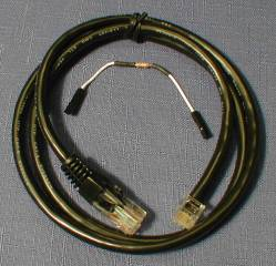 FT100/CBL Rigblaster Yaesu Modular 6 Custom Mic Cable, 3 ft.