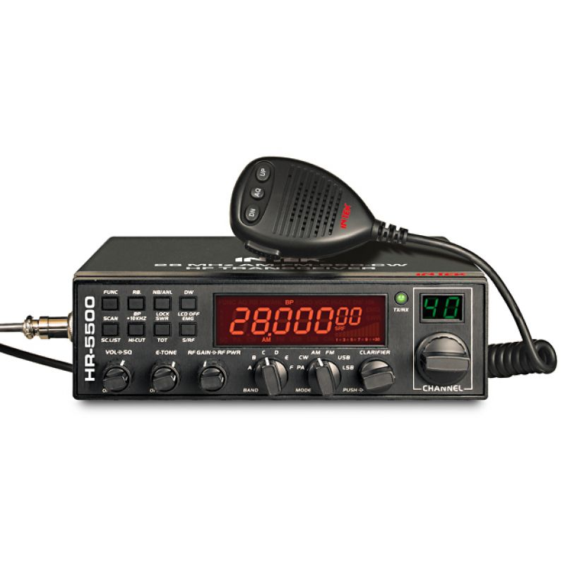 INTEK HR-5500 28MHz AM-FM-SSB-CW 40W MOBILE TRANSCEIVER