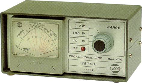 ZETAGI 430 SWR/POWER METER 120-500MHZ