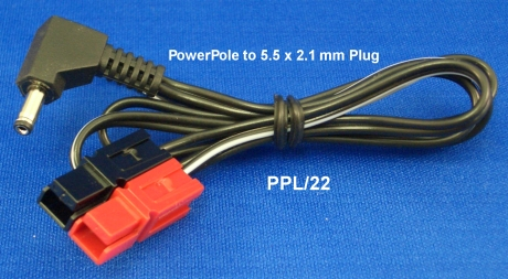PPL/22 - Powerpole to 5.5 x 2.1mm Plug