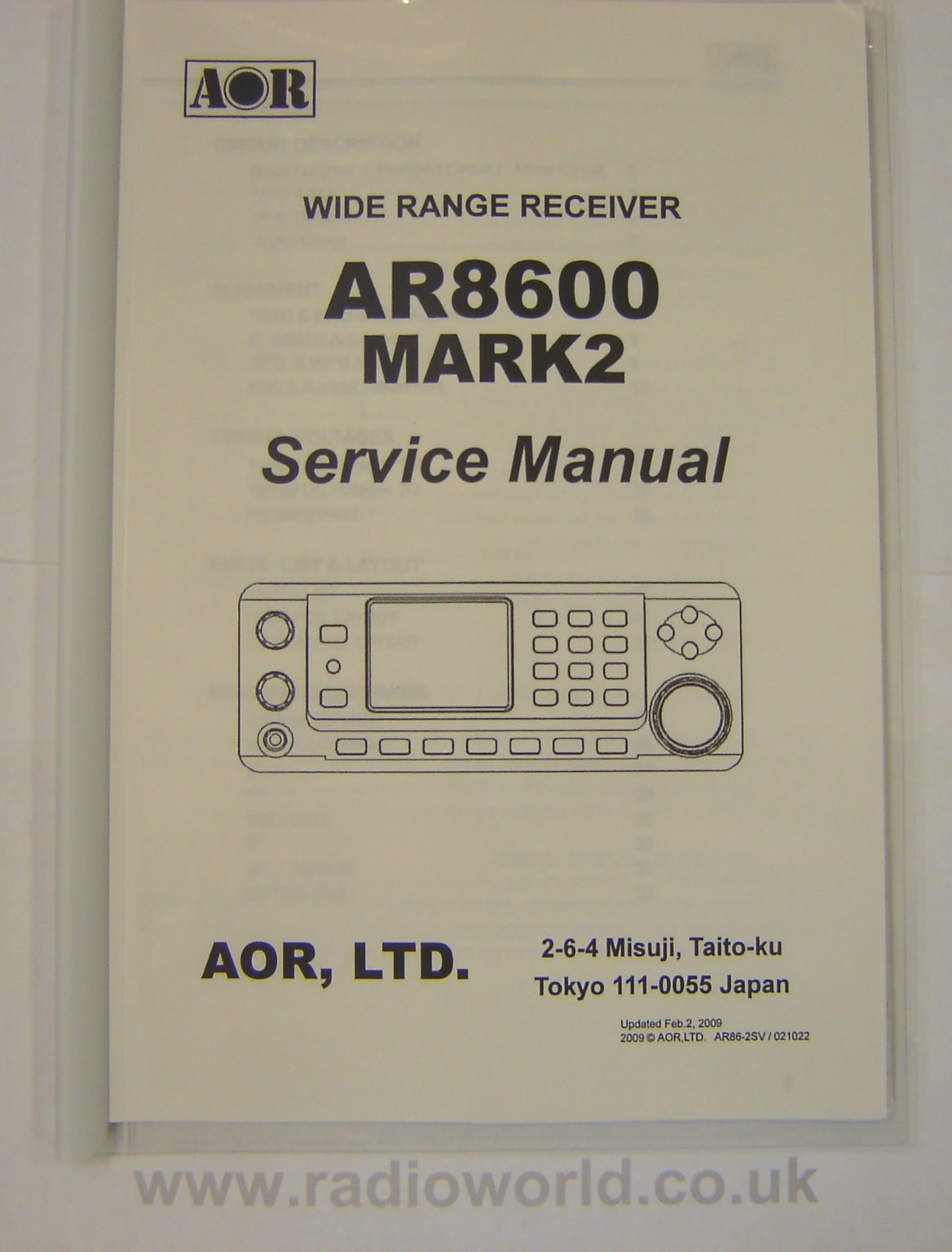 AOR SM-8600-2 Service Manual for AR-8600 Mk2