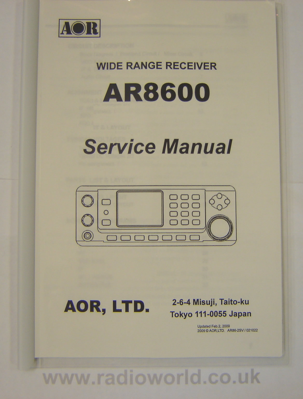 AOR SM-8600 Service Manual for AR-8600