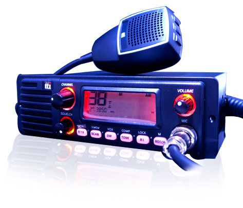 TTI TCB-1100 Multi-Standard CB Radio With Front Speaker/ Din Mul