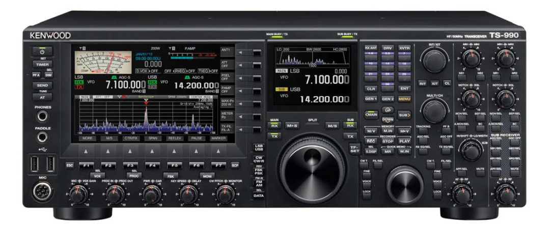 Kenwood TS-990s HF-Base Station Transceivers.