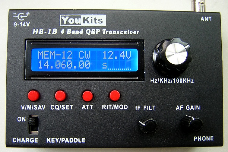 Youkits HB-1B MK2 4 band QRP CW transceiver