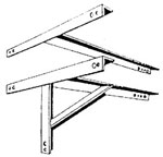 W-36 91.5cm (36in) Wall Stand-off Bracket